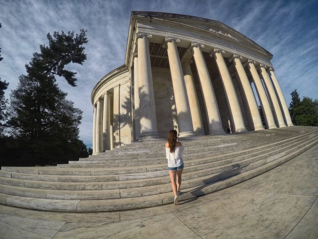 Front steps of the Jefferson memorial