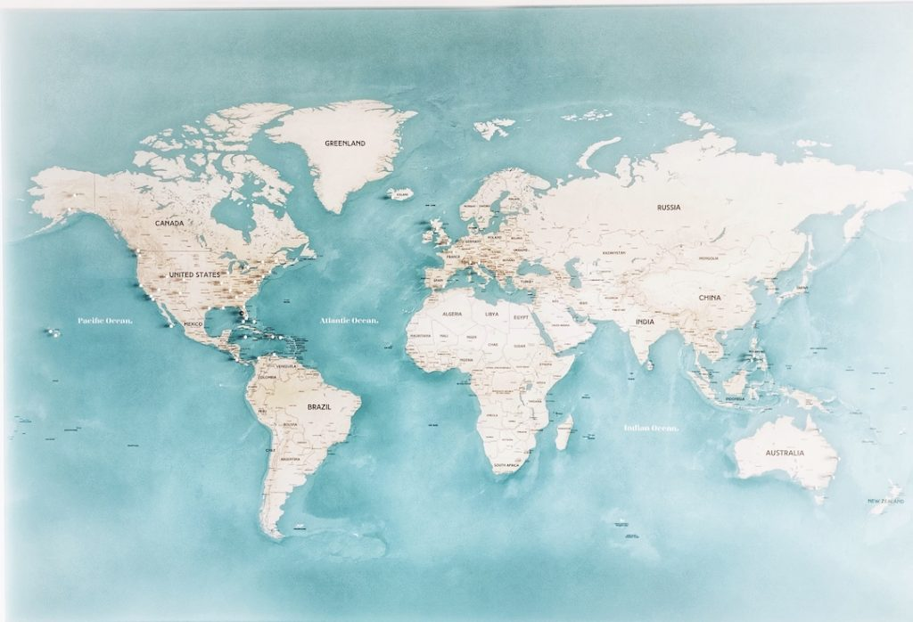 pushpin world map where to go after you save money