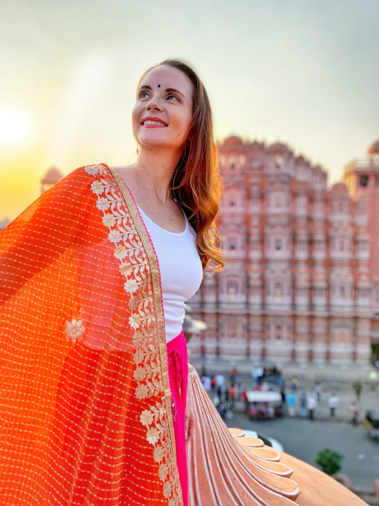 India photo tour including this Instagram worthy photo spot in Jaipur  at the Hawa Mahal