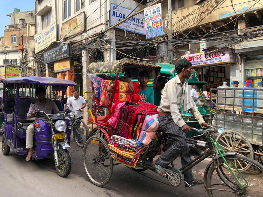 India photo tour including this photo of the Streets of New Delhi India